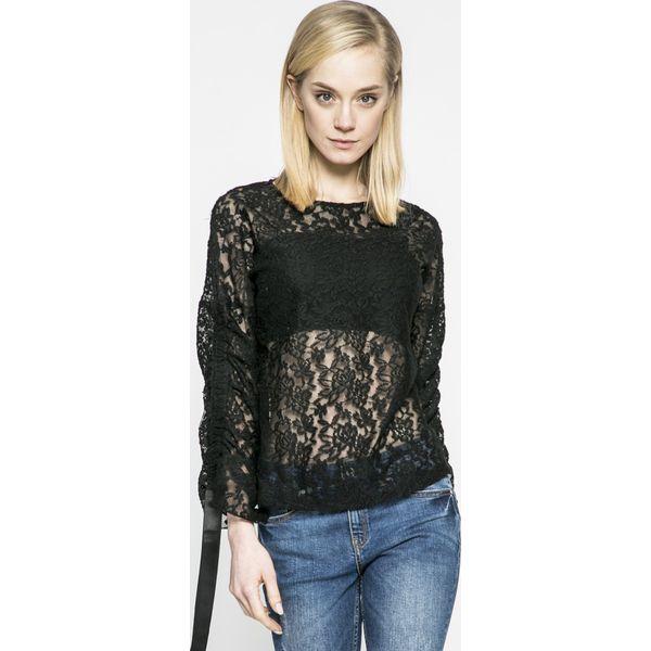 e6a6b01b3deae9 Answear - Bluzka - Czarne bluzki damskie ANSWEAR, l, bez wzorów, z ...