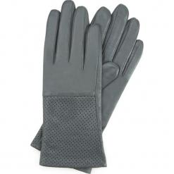 Rękawiczki damskie 45-6-513-S. Szare rękawiczki damskie Wittchen, w ażurowe wzory. Za 159.00 zł.