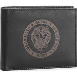 Duży Portfel Męski GUESS - SM2558 LEA20 BLA. Czarne portfele męskie Guess, z aplikacjami, ze skóry. Za 279.00 zł.