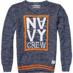 Sweter w kolorze granatowym. Swetry dla chłopców marki Reserved. W wyprzedaży za 85.95 zł.