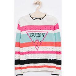 Guess Jeans - Sweter dziecięcy 118-175 cm. Swetry dla dziewczynek Guess Jeans, z bawełny, z okrągłym kołnierzem. Za 219.90 zł.