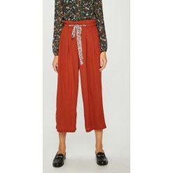 Answear - Spodnie Heritage. Szare spodnie materiałowe damskie ANSWEAR, z poliesteru. W wyprzedaży za 99.90 zł.
