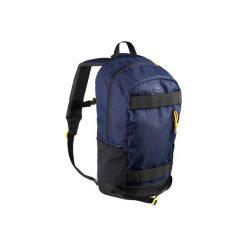 Plecak SKATE MID 23 L granatowo-żółty. Niebieskie plecaki damskie OXELO, z materiału. Za 69.99 zł.