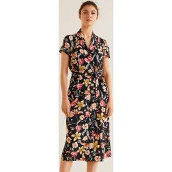 Mango - Sukienka Gracia. Szare sukienki damskie Mango, w paski, z materiału, casualowe, z krótkim rękawem. Za 199.90 zł.