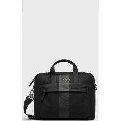 Tommy Hilfiger - Torba na laptopa. Szare torby na laptopa męskie Tommy Hilfiger, w paski, z materiału. Za 579.90 zł.