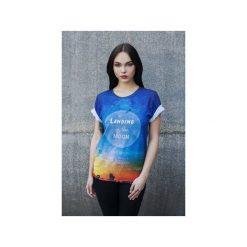 T-shirt Landing On The Moon. Szare t-shirty damskie Bahabay, z nadrukiem, z bawełny. Za 83.30 zł.