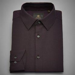 Koszula z żakardowej tkaniny - Bordowy. Czerwone koszule męskie Reserved, z tkaniny. Za 139.99 zł.