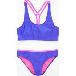 Dwuczęściowy strój kąpielowy - Niebieski. Stroje kąpielowe dla dziewczynek marki bonprix. W wyprzedaży za 29.99 zł.
