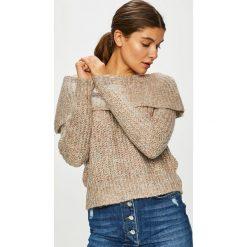 Only - Sweter. Szare swetry damskie Only, z dzianiny, z dekoltem typu hiszpanka. Za 129.90 zł.