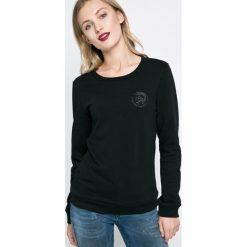 Diesel - Bluza. Czarne bluzy damskie Diesel, z bawełny. Za 229.90 zł.