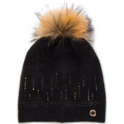 Czapka GRANADILLA - Soft Wool Swaroski JG5301 Black 001. Czarne czapki i kapelusze damskie Granadilla, z elastanu. Za 439.00 zł.