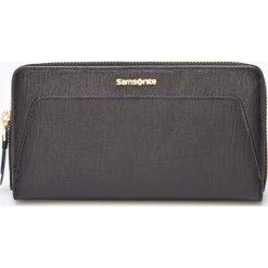 Samsonite - Portfel skórzany. Czarne portfele damskie Samsonite, z materiału. W wyprzedaży za 259.90 zł.