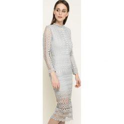 Missguided - Sukienka. Szare sukienki damskie Missguided, z koronki, casualowe, z długim rękawem. W wyprzedaży za 179.90 zł.