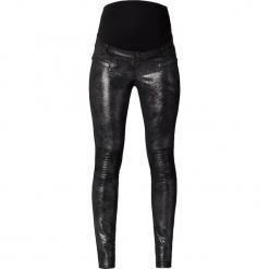 Spodnie ciążowe - Skinny fit - w kolorze srebrnym. Szare spodnie materiałowe damskie Noppies Women, w paski. W wyprzedaży za 130.95 zł.