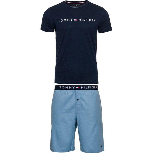 preisreduziert neue niedrigere Preise neuer Stil Tommy Hilfiger męska piżama UM0UM01596 CN SS SHORT WOVEN SET M  ciemnoniebieski