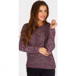 """Sweter """"Icmac"""" ze wzorem. Brązowe swetry damskie Scottage, z wełny, z okrągłym kołnierzem. W wyprzedaży za 86.95 zł."""
