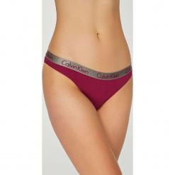 Calvin Klein Underwear - Stringi. Brązowe stringi damskie Calvin Klein Underwear, z bawełny. Za 64.90 zł.