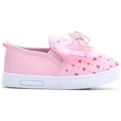 Różowe Slip On Charm. Czerwone buty sportowe dziewczęce Born2be, na jesień, z materiału. Za 39.99 zł.
