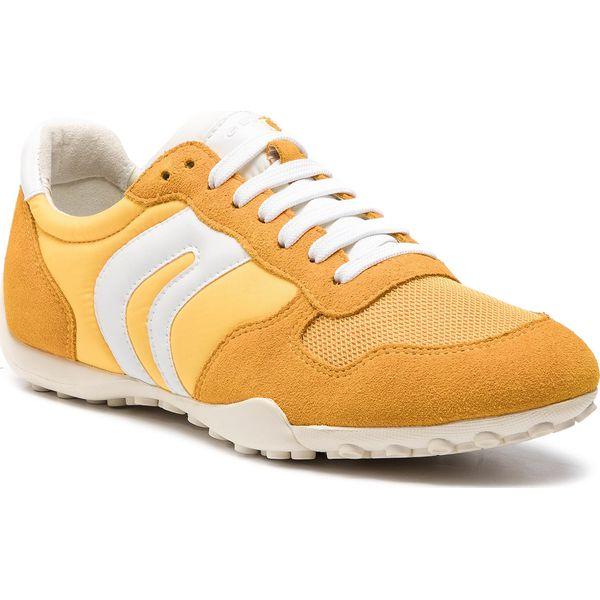 Sneakersy GEOX D N. Club A D4258A 000HI C2004 Jasny Żółty