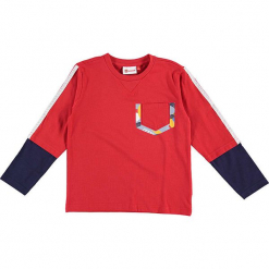 """Koszulka """"Thomas 709"""" w kolorze czerwonym. Zielone t-shirty dla chłopców marki Lego Wear Fashion, z bawełny, z długim rękawem. W wyprzedaży za 59.95 zł."""