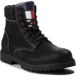 Trapery TOMMY JEANS - Iconic Tommy Jeans N EM0EM00155  990. Czarne śniegowce i trapery męskie Tommy Jeans, z jeansu. Za 749.00 zł.
