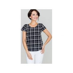 Bluzka K422 Wzór 46. Szare bluzki damskie Lenitif, retro, z krótkim rękawem. Za 99.00 zł.