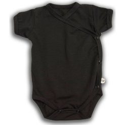 Body kimono z krótkim rękawem Czarna Owca r. 74cm (NCO-02). Czarne body niemowlęce Nanaf Organic, z krótkim rękawem. Za 42.29 zł.
