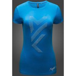 Koszulka damska Maciek Kot Collection TSD281 - denim. Niebieskie bluzki damskie 4f, z nadrukiem, z bawełny. W wyprzedaży za 29.99 zł.