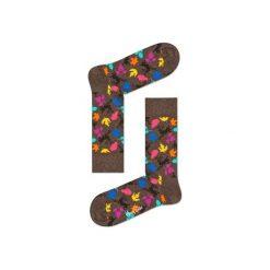 Skarpetki Happy Socks - Fall (DEE01-8000). Szare skarpety męskie Happy Socks, w kolorowe wzory, z bawełny. Za 34.90 zł.