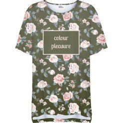 Colour Pleasure Koszulka damska CP-033 266 zielono-różowa r. uniwersalny. T-shirty damskie Colour Pleasure. Za 76.57 zł.