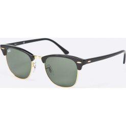 Ray-Ban - Okulary Clubmaster. Szare okulary przeciwsłoneczne męskie Ray-Ban, z acetatu. Za 519.90 zł.