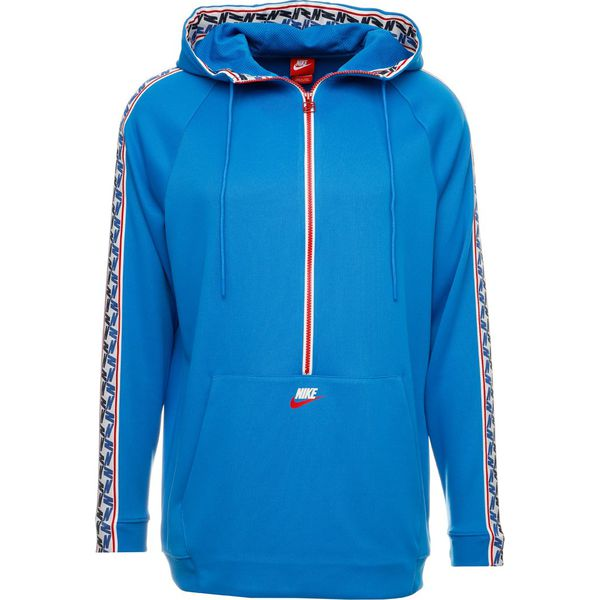 d6276ec9d Nike Sportswear TAPED HALF Bluza z kapturem blue/gym red/sail ...