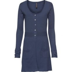 Długi sweter rozpinany bonprix indygo melanż. Niebieskie kardigany damskie bonprix, melanż, z dzianiny. Za 74.99 zł.