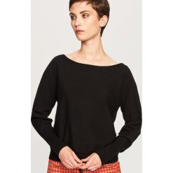 Sweter z dekoltem z tyłu - Czarny. Czarne swetry damskie Reserved. Za 69.99 zł.