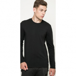 Calvin Klein Underwear - Longsleeve. Czarne bluzki z długim rękawem męskie Calvin Klein Underwear, z bawełny, z okrągłym kołnierzem. Za 129.90 zł.
