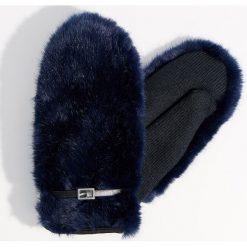 Puszyste rękawiczki z jednym palcem - Niebieski. Rękawiczki damskie marki B'TWIN. W wyprzedaży za 39.99 zł.