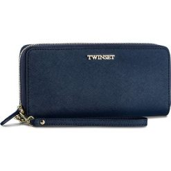 Duży Portfel Damski TWINSET - Zip Around OA7TKC Blue Bla 00894. Niebieskie portfele damskie Twinset, ze skóry. W wyprzedaży za 419.00 zł.