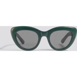 NA-KD Accessories Okulary przeciwsłoneczne kocie oczy - Green. Zielone okulary przeciwsłoneczne damskie NA-KD Accessories. Za 60.95 zł.
