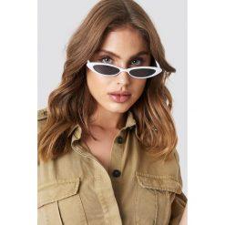 MANGO Okulary przeciwsłoneczne Alanis - White. Białe okulary przeciwsłoneczne damskie Mango. Za 80.95 zł.