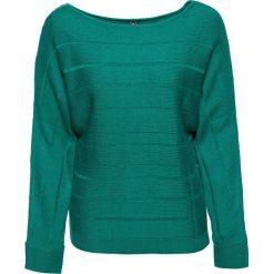 Sweter z dekoracyjnym zamkiem bonprix ciemnoszmaragdowy. Swetry damskie marki bonprix. Za 89.99 zł.