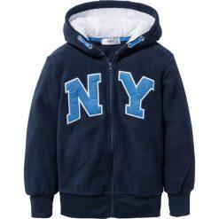 Bluza z polaru z aplikacją bonprix ciemnoniebieski. Bluzy dla chłopców bonprix, z aplikacjami, z polaru. Za 79.99 zł.