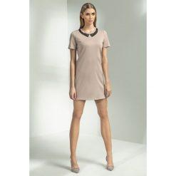 Sukienka z kołnierzem s53. Brązowe sukienki dla dziewczynek Nife. W wyprzedaży za 59.00 zł.