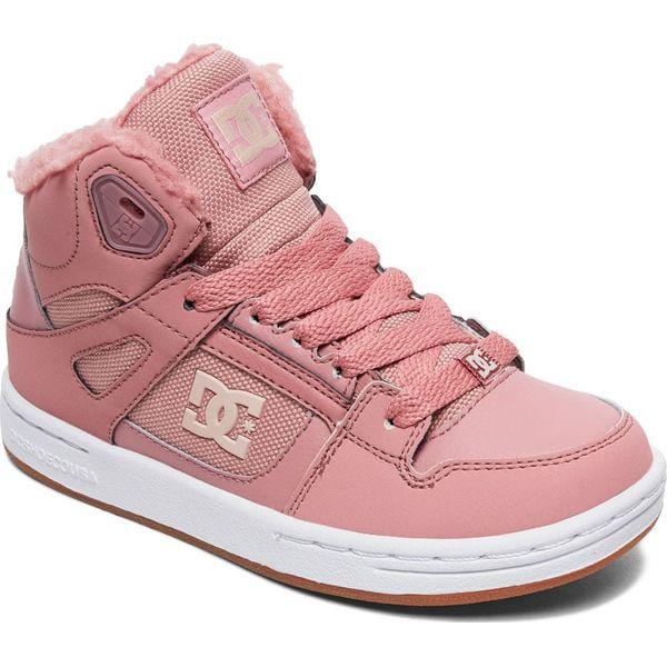 DC tenisówki dziewczęce Pure High Top 35 różowe