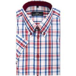 Koszula SERGIO slim 13-02-07. Szare koszule męskie Giacomo Conti, na lato, z bawełny, button down, z krótkim rękawem. Za 199.00 zł.