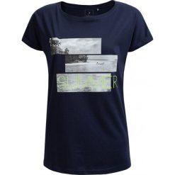 T-shirt damski TSD627 - granatowy - Outhorn. Niebieskie t-shirty damskie Outhorn, z nadrukiem, z bawełny. W wyprzedaży za 24.99 zł.