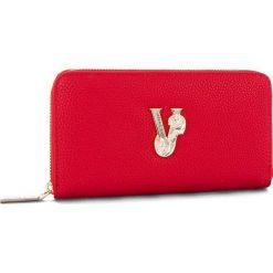 Duży Portfel Damski VERSACE JEANS - E3VSBPV1  70790-500. Czerwone portfele damskie Versace Jeans, z jeansu. Za 349.00 zł.