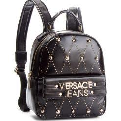 Plecak VERSACE JEANS - E1VSBBE7 70778 899. Czarne plecaki damskie Versace Jeans, z jeansu. Za 789.00 zł.