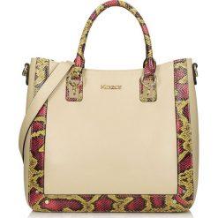 Beżowo różowa torebka do ręki. Brązowe torby na ramię damskie Kazar. W wyprzedaży za 629.00 zł.