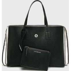 Tommy Hilfiger - Torebka. Czarne torby na ramię damskie Tommy Hilfiger, z materiału. Za 649.90 zł.