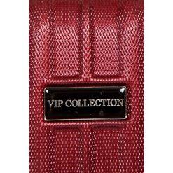 VIP COLLECTION - Walizka 16 L. Brązowe walizki męskie VIP COLLECTION, z materiału. W wyprzedaży za 119.90 zł.
